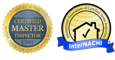 Certified Master Inspector & InterNACHI badges