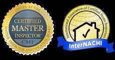Certified Master Inspector & InterNACHI badges